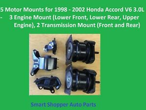 3 Engine 2 Transmission Mount For 1998 1999 2000 2002 Honda Accord V6 3 0l