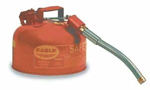 Eagle U2 26 s Red Galvanized Steel Type Ii Gas Safety Can With 7 8 Flex Spout
