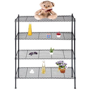 Suncoo 4 Tier Layer Steel Wire Shelving Rack Shelf Chorme 36 X 55 X 14