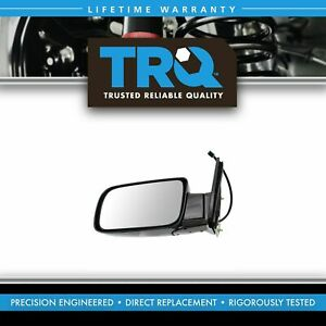 Trq Mirror Side View Power Black Folding Driver Left Lh For Chevy Gmc Truck