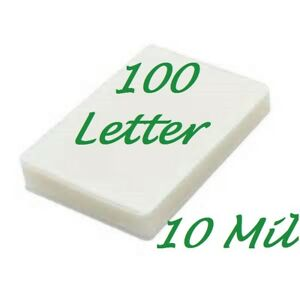 100 Letter 10 Mil Laminating Pouches Laminator Sheets 9 X 11 1 2 Scotch Quality