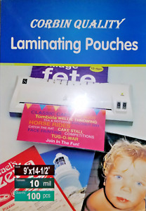 100 Legal 10 Mil Laminating Pouches Laminator Sheets 9 X 14 1 2 Quality