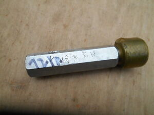 1 3 8 18 Left Hand No Go Thread Plug Gage