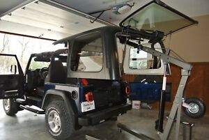 Jeep Tj Wrangler Hard Top Lift Hoist And Storage Shop Crane Not Included