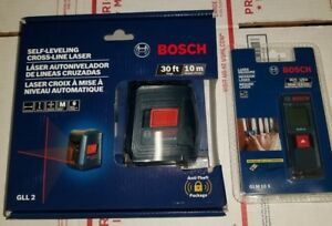 Bosch Gll 2 Self leveling Cross line Laser Level With Mount Glm 10 X Laser M