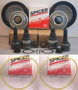 Ford F250 f350 Dana Super 60 2005 14 Front Axle Seal Hub O Ring ball Joints Set