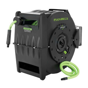 Flexzilla Heavy Duty Automatic Retractable Air Hose Reel With 3 8 X 75 Hose