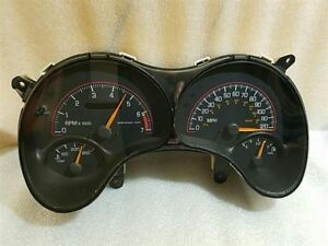 2004 Pontiac Grand Am Speedometer Instrument Cluster With Tach 13216