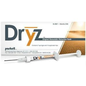 Parkell S180 Dryz Gingival Hemostatic Dental Retraction Paste Syringes 7 pk