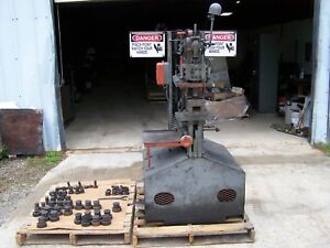 Uni hydro 55 ton Hydraulic Ironworker With Several Punch Die Sets 230v 3 Phase