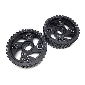 Brian Crower Bc Adjustable Cam Gears Honda Acura B16 B18 B20 B series Dohc Black