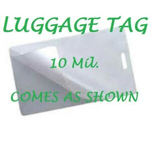 500 Luggage Tag 10 Mil Laminating Pouches Laminator Sheets With Slot 2 5 X 4 25