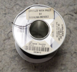 Alpha 006 0 15mm Tfe Ins 30 Awg Solid Spc Wire Black 1000ft 200c 250v c1b2