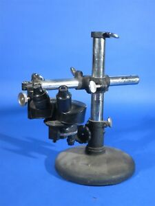 Ao Spencer Stereo Microscope Mounted On Adjustable Stand Bonus Head Bausch Lomb