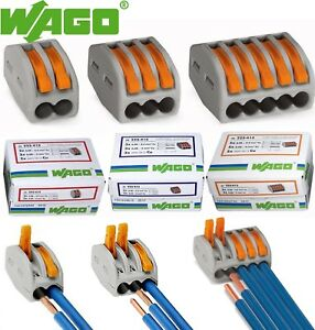 Wago Lever nuts 2 3 5 Conductor Cage Clamp Terminal Block 12 28 Awg 32a
