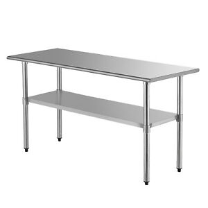 Suncoo 30 X 72 Stainless Steel Work Table Commercial Food Prep Kitchen