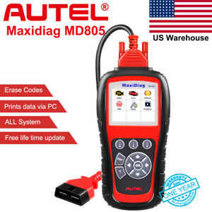 Md805 Obdii All System Code Reader Abs Airbag Scan Tool Engine Epb Transmission