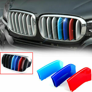 For Bmw F15 F16 X5 X6 Tri Color M Sport Front Kidney Grille Insert Trims Cover