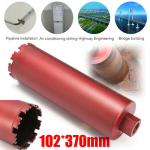 4 Dry And Wet Diamond Core Drill Bit Set Red For Concrete Masonry M22 Threads