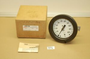 new In Box Ametek Us Gauge 0 1000 Psi 4 1 2 Black Gauge 1933 1 4 npt