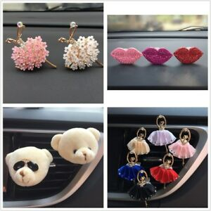 Zinc Alloy Perfume Car Clip Air Outlet Girl Freshener Styling Ballet Diffuser