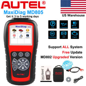 Md805 Engine Abs Airbag Scan Epb Oil Reset Full System Obd2 Auto Diagnostic Tool