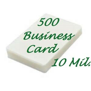 500 Business Card 10 Mil Laminating Pouches Laminator Sheets 2 1 4 X 3 3 4