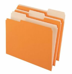 Pendaflex Two tone Color File Folder Letter 8 50 X 11 1 3 Tab 15213ora