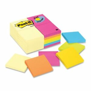 Post it Notes Value Pack In Canary Yellow And Ultra Colors 654cyp24va