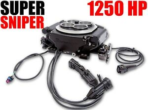 Holley 550 513 Super Sniper Efi 4150 Black 1250 Hp Blow Thru Forced Induction