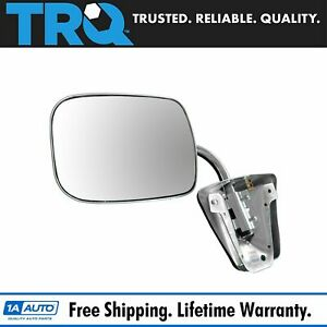 Stainless Steel Manual Side View Mirror Left Or Right For Chevy Gmc Truck