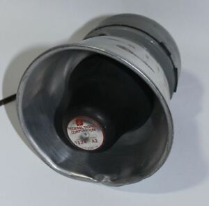 Federal Signal Ts24 Motorcycle Siren Speaker Chrome Dome Pa
