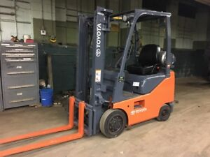 2009 3000 Lb Toyota Forklift With Side Shift Only 79 Inch Tall Low Hours