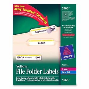 Avery Filing Labels 0 66 Width X 3 43 Length 1500 Box ave5966