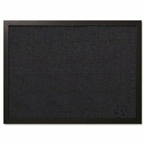 Bi silque Fabric Bulletin Board 18 Height X 24 Width Black Fabric Surface