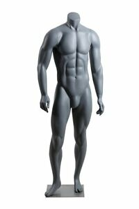 Abstract Male Mannequin Headless Style Matte Grey Made Of Fiberglass Nike1