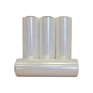 18 x2000 Stretch Wrap Film Roll Clear Plastic Hand Shrink Moving Packing 4 Pack