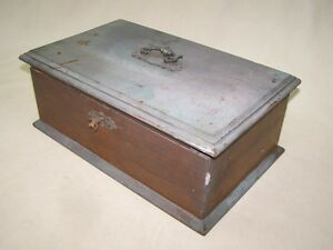 Little Old Art Nouveau Wooden Box Wood Chest Box Treasure Chest Jewellery Box