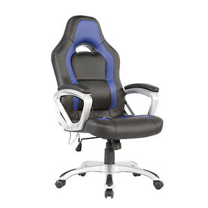 Suncoo Heated Vibrating Race Car Office Massage Chair Pu Ergonomic Computer