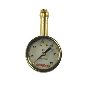 Accu Gage 60 Psi Dial Tire Pressure Gauge With Swivel Angle Chuck 60xga