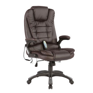 Office Massage Chair Heated Vibrating Ergonomic Swivel Computer Desk Executive