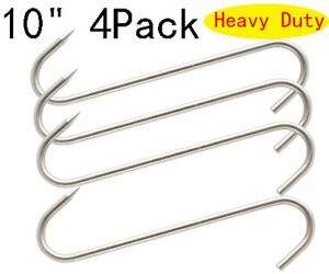 10 Meat Hook Heavy Duty S hooks Stainless Steel Meat Processing Butcher Hook