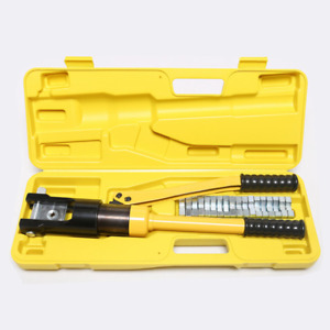 16 Ton Hydraulic Wire Crimper Battery Cable Lug Terminal Crimping Tool 11 Dies
