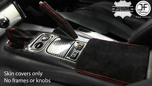 Red Stitch Suede Shift E Brake Boot Armrest Cover For Honda S2000 99 03