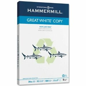 Hammermill Copy Paper For Laser Inkjet Print 11 X 17 20 Lb Recycled