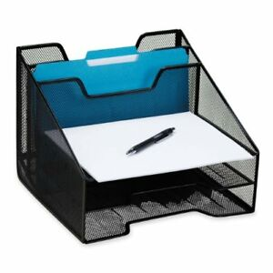 Rolodex Mesh Combo Tray Black rol1742322