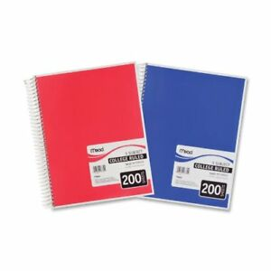 Mead 5 subject College Ruled Wirebound Notebook 200 Sheet College Ruled