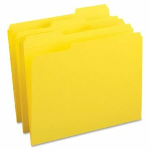 Smead 12934 Yellow Colored File Folders With Reinforced Tab Letter smd12934