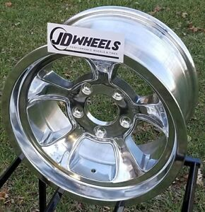 Jd Wheels 15x8 Halibrand Replica 612 5x5 4 25 Bs Gm Chevy Hot Rod Gasser