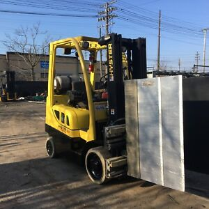2008 Hyster Forklift 5000 Lb With Carton Clamp Triple Mast
